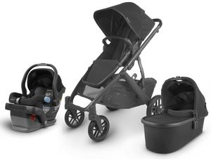 UPPAbaby 2020 Vista V2 + Mesa Travel System - Jake (Black/Carbon/Black Leather)