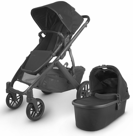UPPAbaby 2020 Vista V2 Stroller - Jake (Black/Carbon/Black Leather)