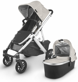 UPPAbaby 2020 Vista V2 Stroller - Sierra (Dune Knit/Silver/Black Leather)