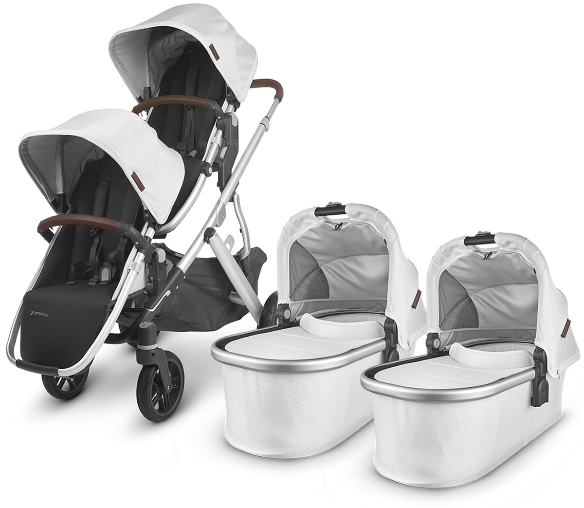 UPPAbaby 2020 Vista V2 Twin Double Stroller - Bryce (White ...