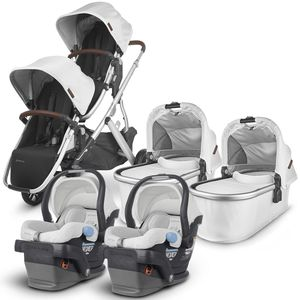 UPPAbaby VISTA V2 Twin Double Stroller + MESA Travel System Bundle - Bryce/Bryce