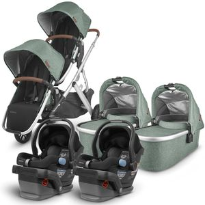 UPPAbaby 2020 Vista V2 Twin Travel System Stroller - Emmett/Jake