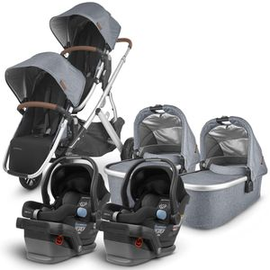 UPPAbaby 2020 Vista V2 Twin Travel System Stroller - Gregory/Jake
