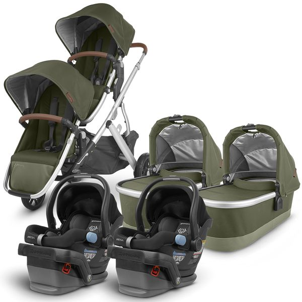 UPPAbaby 2020 Vista V2 Twin Travel System Stroller - Hazel/Jake