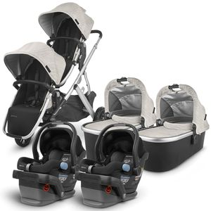 UPPAbaby 2020 Vista V2 Twin Travel System Stroller - Sierra/Jake