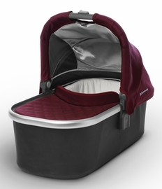 UPPAbaby 2017 Bassinet - Dennison (Bordeaux/Silver) - OPEN BOX RETURN