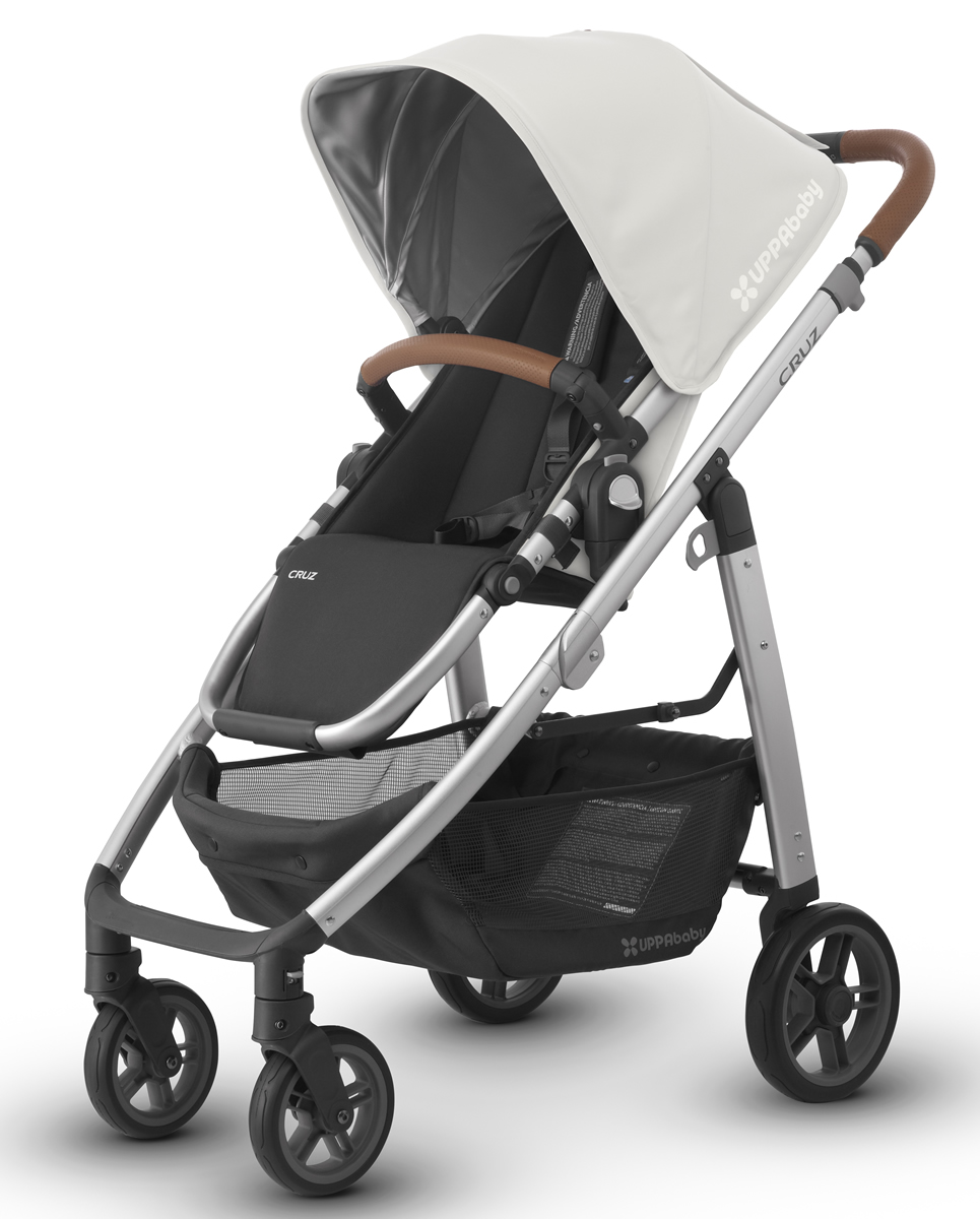 UPPAbaby 2018 / 2019 CRUZ Stroller - Loic (White/Silver/Leather)