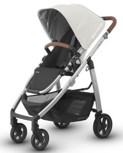 UPPAbaby 2018 / 2019 CRUZ Stroller - Loic (White/Silver/Saddle Leather)