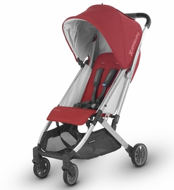 UPPAbaby Minu Stroller - Denny (Red Melange/Silver/Black Leather)