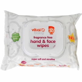 Vital Baby Fragrance Free Hand & Face Wipes