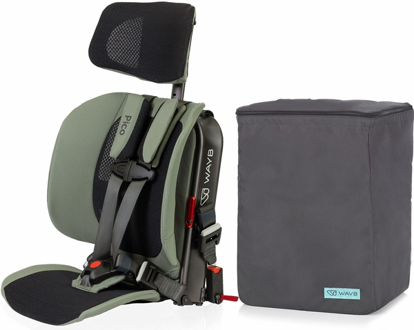 WAYB Pico Forward Facing Travel Car Seat + Travel Bag - Woodland (Albee Exclusive)