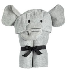 Yikes Twins Hooded Towel - Elephant