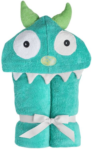 Yikes Twins Hooded Towel - Monster Turquoise