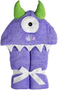 Yikes Twins Hooded Towel - One-Eyed Monster Purple