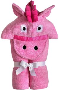 Yikes Twins Hooded Towel - Pink Pony