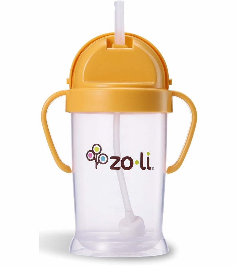 zoli bot xl 9 oz straw sippy cup orange. Black Bedroom Furniture Sets. Home Design Ideas