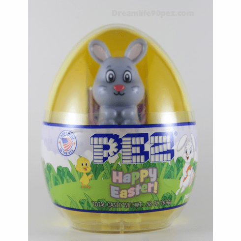 Grey Bunny Mini Pez, Mint in Egg, Loose or Combo