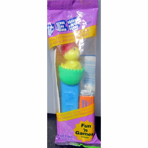 Chick In Egg Pez MINT IN PURPLE EASTER BAG - ONLY 1 IN STOCK!