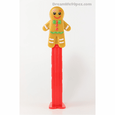 Gingerbread Man Pez, Loose ONLY 1 LEFT IN STOCK