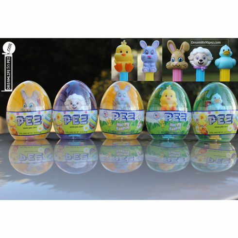 Easter Egg Mini Pez, Set of 5, Mint in Egg, ONLY 1 IN STOCK