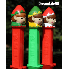 Elf Pez, set of all 3, Loose