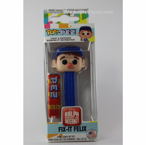 Fix-It Felix, from Wreck-It Ralph Funko Pez, Ralph Breaks the Internet, Disney, Choose Loose or Mint in Box