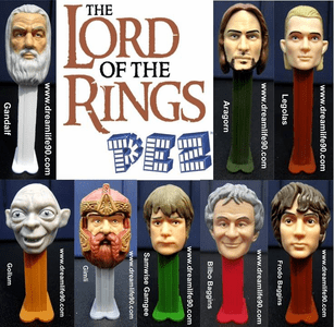 FREE Lord Of The Rings Pez Set to August Grey Raffle Ticket Winners: Kristin Berlinger, Abbie Crawford, Carter Berry