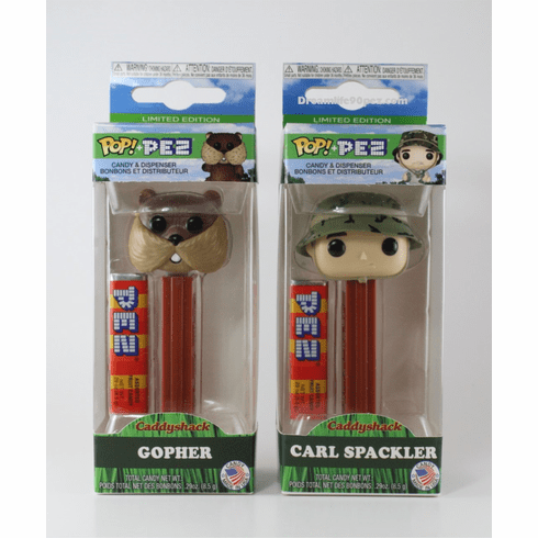 Funko Caddyshack Pez, Carl & Gopher, Choose Loose or Mint in Box!