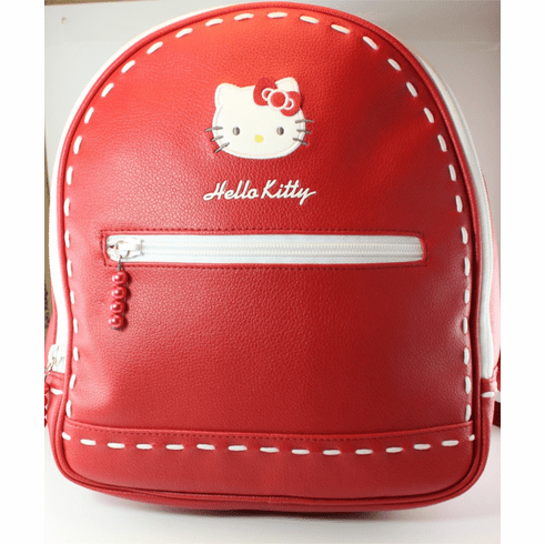"""Hello Kitty Back Pack Purse, 10"""", Red with White Stitching ONLY 1 IN STOCK"""
