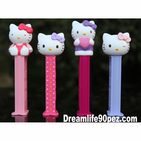 Hello Kitty Pez, European Release, Set of 4, Loose ON SALE!