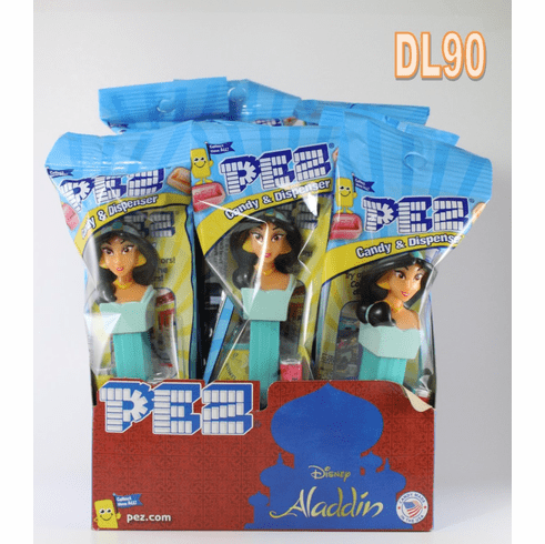 Jasmine Pez Party Pack, 12 dispensers Mint in Bag including Counter Display