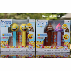 NEW! 2018 Emoji Pez Twin Packs: Poop, Rainbow Poop, Happy & LOL, Mint in Twin Packs