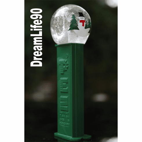 NEW! 2018 Snow Globe Pez on Green Stem, Loose or Mint in Bag