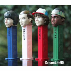 NEW 2018! Stranger Things Pez, Twin Packs, Eleven, Mike, Lucas and Dustin, Loose or Mint in Twin Pack Boxes