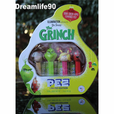 The Grinch Pez Gift Tin, Mint in Tin, Loose or Combo!