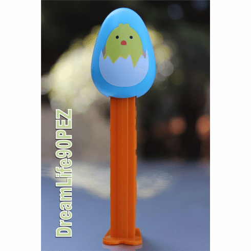 Easter Egg Pez with Yellow Duck on Blue Egg, Loose