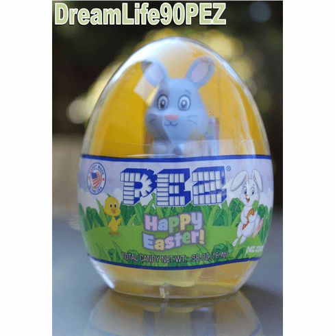 NEW! 2019 Egg Pez with Short-Stemmed Bunny, Mint in Egg