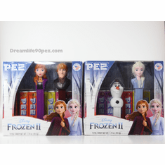 New 2019 Frozen 2 Pez Twin Packs, Anna, Kristoff, Elsa (with lipstick) and MINI OLAF, Mint in Twin Packs or Loose