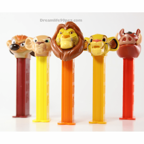 Lion King Pez, 5 Piece Assortment, Mufasa, Pumba, Nala, Timon and Simba, Loose