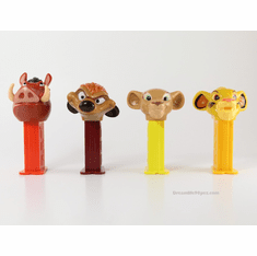 NEW! 2019 Lion King Pez Twin Packs, Simba, Nala, Pumba and Timon, All on Short Stem! Loose, Mint in Twin Pack Box or Combo!