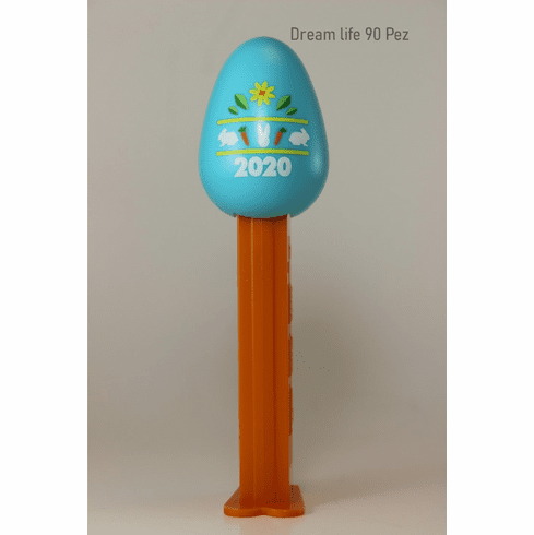 NEW! 2020 Blue Egg Pez, Decorated with the year 2020, Loose!