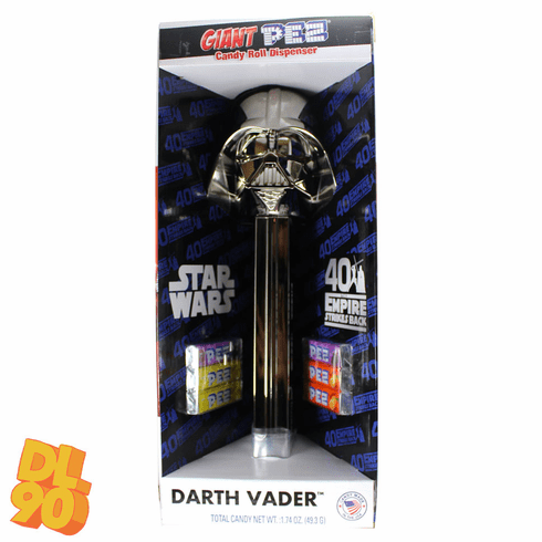 NEW! 2020 Giant Darth Vader Pez Candy Roll Dispenser, 40th Empire Strikes Back, Mint in Box
