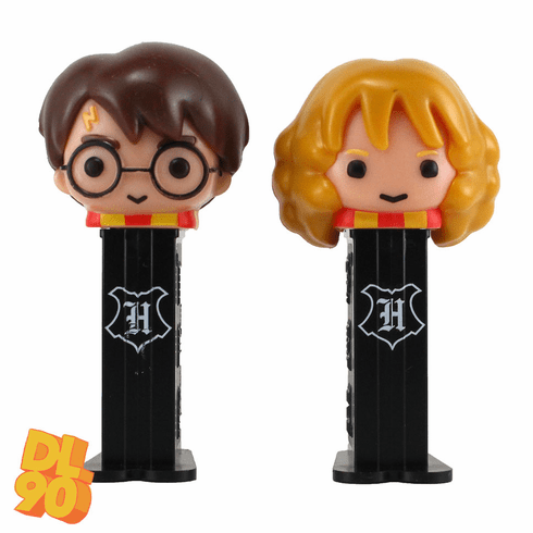 NEW! 2020 Harry Potter and Hermione Granger Pez Twin Pack, Short Stems, Loose or Mint in Twin Pack! INCLUDES MYSTERY CANDY
