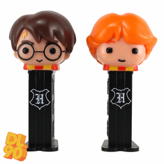 NEW! 2020 Harry Potter and Ron Weasley Pez Twin Pack, Short Stems, Loose or Mint in Twin Pack! INCLUDES MYSTERY CANDY