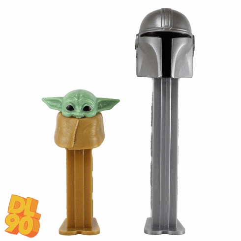 "NEW! 2020 Mandalorian Pez Twin Pack! Mandalorian and ""The Child"" (Baby Yoda), LOOSE, MINT IN TWIN PACK OR COMBO!"