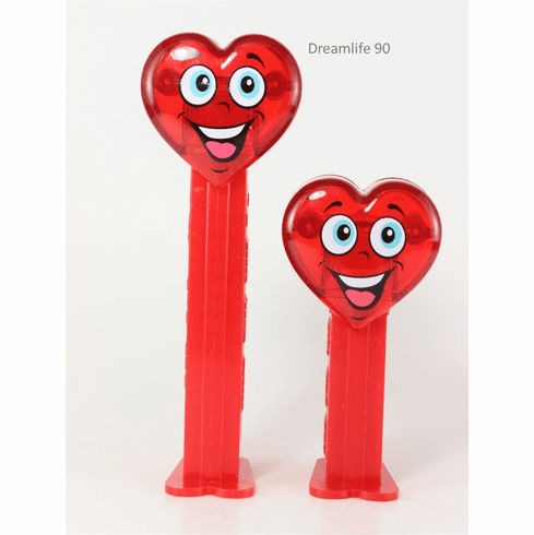 Valentine Heart Pez, Happy Crystal Heart Tall and Short Duo, Loose