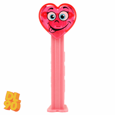 NEW! 2020 Valentine Heart Pez, Pink (loose or mint on card)  **ONLY 3 IN STOCK**