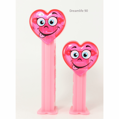 NEW! 2020 Valentine Heart Pez, Silly Crystal Heart Tall and Short Duo, Loose