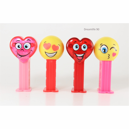 NEW! 2020 Valentine Pez on Short Stems! Set of 4, Loose
