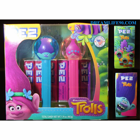 New for 2018! Emoji Trolls Pez, Twin Pack, Mint in box